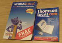A Photo Comparing the Thomson Local 2010/11 Edition to the 2011/12 Edition