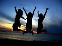 Three Girls Celebrating