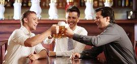 Cheers!  Men Drinking Beer