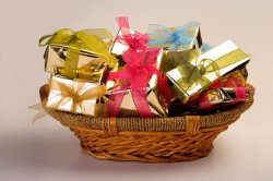 Photo of the Christmas Gift Basket from an Elf's Tale