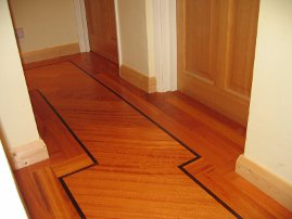 Hardwood Flooring in a Hallway