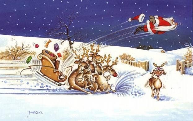Christmas Smiles - Low Flying Santa
