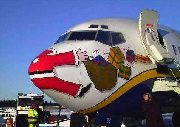 Christmas Smiles - Santa Run into by a Jet